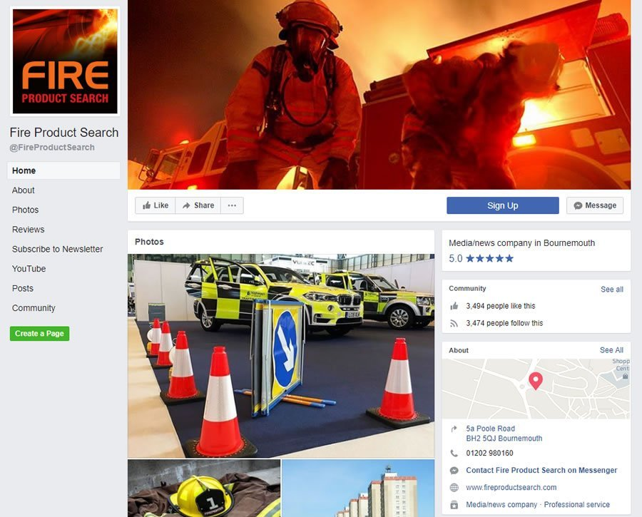 Fire Product Search Facebook page