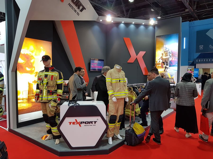 Texport stand at Intersec 2018