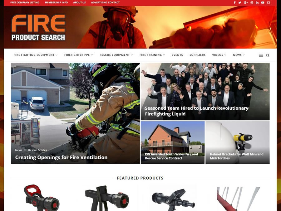 New Fire Product Search website